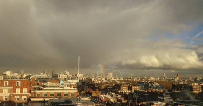 Rainbow on the London skyline