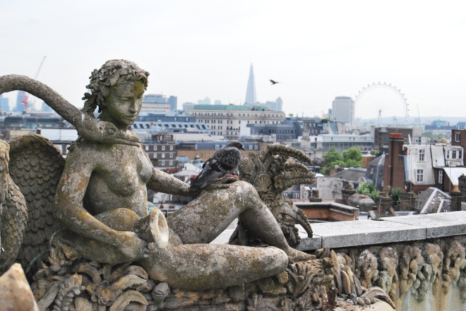 View across the London skyline from the Oliver Messel Suite 2